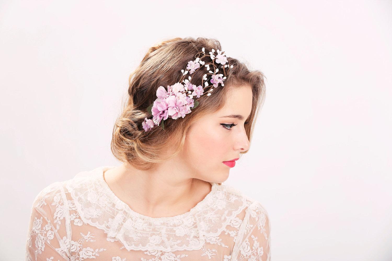 Flower crown rollers rouge simple flower crown floral hair accessories izmirmasajfo