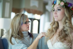 Special Day Bouquet, Flower Crown, On Site hairstylist, On location hairstylist, On site makeup artist, on location makeup artist, cincinnati weddings, northern kentucky weddings, obscura cincinnati,  cincinnati makeup artist, cincinnati airbrush makeup, bohemian bride