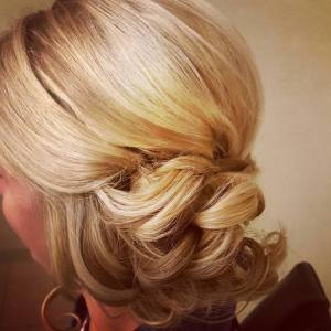 Updo, Wedding Hair, Bridal Hair, Cincinnati Weddings, Cincinnati, Blonde, Hair and Makeup, Formal Hair, Special Occasion Hair, Courtyard Marriott Rookwood, The Soap Box Salon, On Site Makeup, On Site Hairstylist