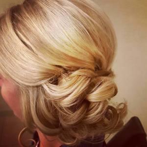 Updo, Wedding Hair, Bridal Hair, Cincinnati Weddings, Cincinnati, Blonde, Hair and Makeup, Formal Hair, Special Occasion Hair, Courtyard Marriott Rookwood, The Soap Box Salon, On Site Makeup, On Site Hairstylist