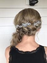 braid, updo. hair accessories, wedding hair, bridal hair, Colorado, Colorado wedding, Denver, Denver wedding, Denver bride, Colorado Hairstylist, Rollers & Rouge,