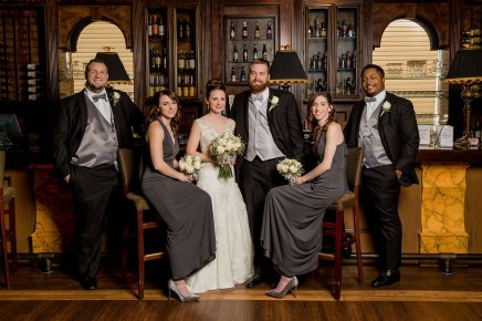 Winter Wedding, Bridal Party, Cincinnati Wedding, Ohio Wedding, Bride and Groom