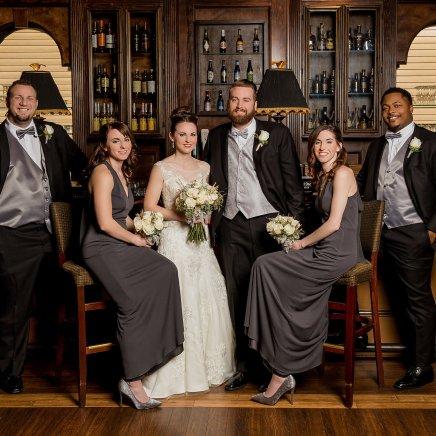 Winter Wedding, Bridal Party, Cincinnati Wedding, Ohio Wedding, Bride and Groom