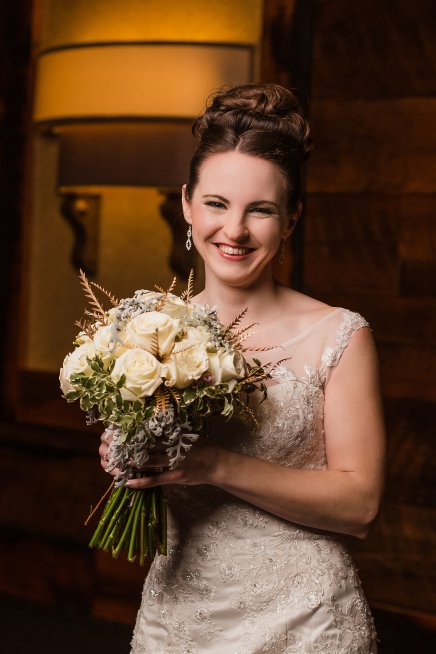 Bride, Bridal bouquet, Winter Wedding, Hair and Makeup, Ohio Wedding, Cincinnati Wedding