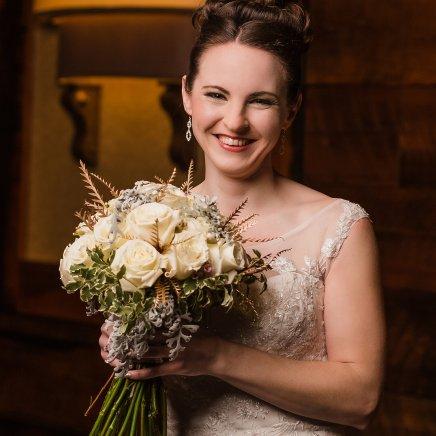 Bride, Bridal bouquet, Winter Wedding, Hair and Makeup, Ohio Wedding, Cincinnati Wedding