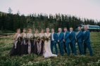 Bridal Party, Summer Wedding, Outdoor Wedding, Mountain Wedding, Colorado Wedding,