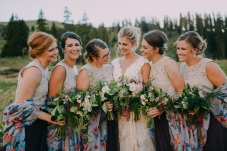 Mountain Wedding, Mountain Ceremony, Colorado Wedding, Colorado Bride, Outdoor Wedding, Outdoor Ceremony, Mother of the Bride, Summer Wedding, Best Friends, Bridal Party Hair, bridal Party Makeup