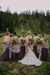 Mountain Wedding, Mountain Ceremony, Colorado Wedding, Colorado Bride, Outdoor Wedding, Outdoor Ceremony, Mother of the Bride, Summer Wedding, Bridal party, Bridal Party hair