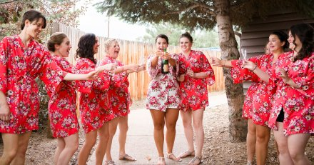 Robes, Bridesmaids, Bridesmaids Robes, Bridal Party, Summer Wedding, Colorado Wedding, Colorado Bride, Denver Wedding, Denver Bride, On Site Makeup, On Site Hair, On location Hair, On location Makeup