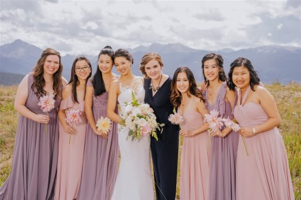 Vail Summer Wedding Bridal Party