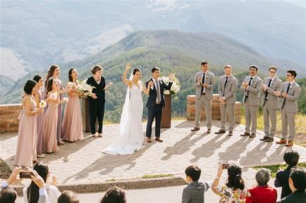 Vail Wedding Deck Ceremony
