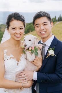 Vail Summer Wedding Bride and Groom