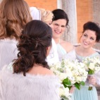 Winter Cincinnati Bridal Party Alms Park