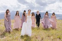 Vail Wedding Summer Bridal Party