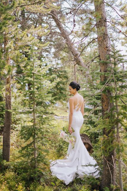 Vail Summer Wedding Bride