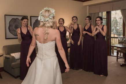 Vail Bridal Party First Look