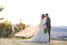 Sedalia Colorado Winter Wedding Bride and Groom