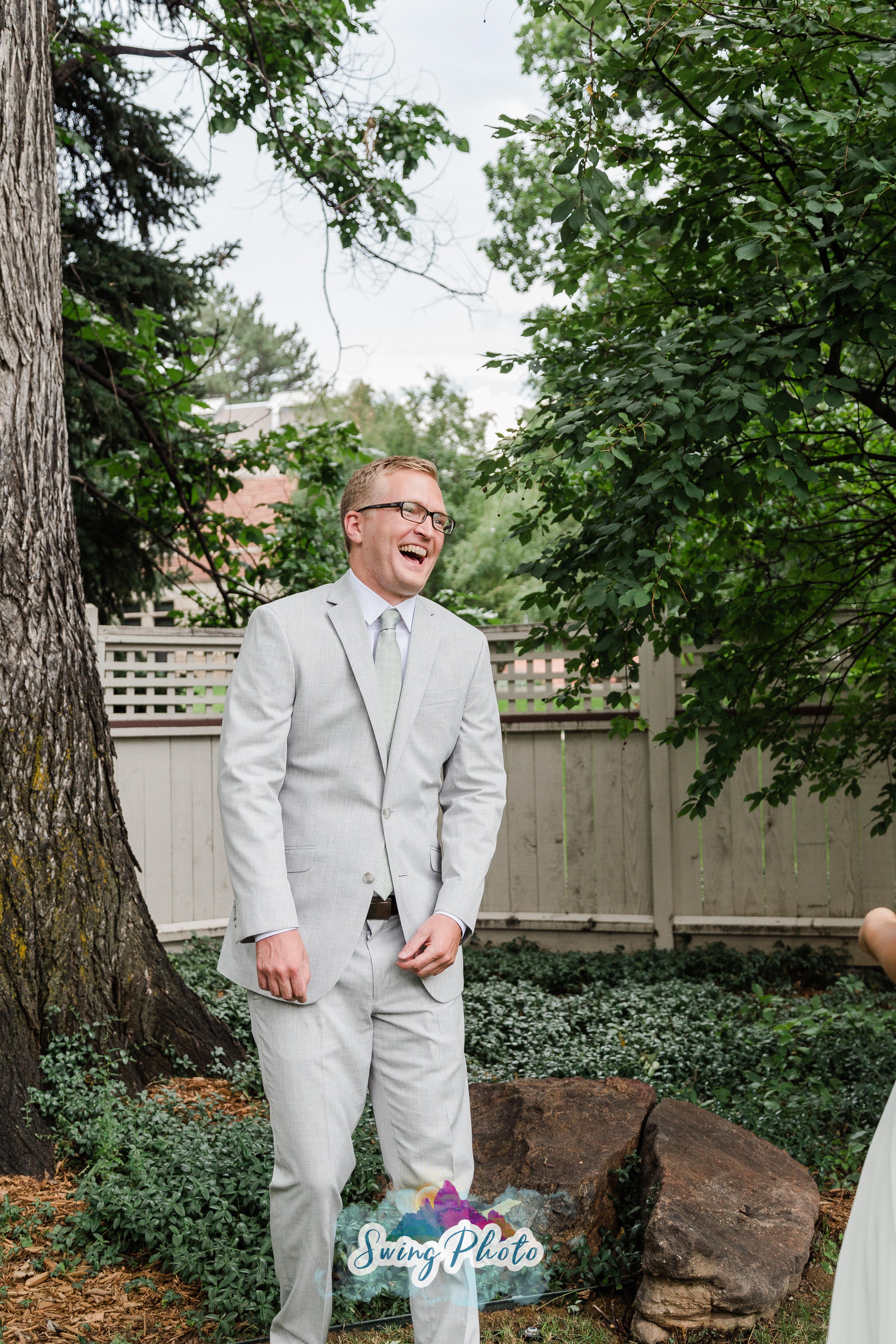 da2f257b71a9 Colorado Summer Wedding Bride & Groom First Look | Rollers & Rouge
