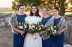 Sedalia Colorado Winter Wedding Bridal Party