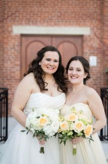 Ohio Spring wedding Peach Palette