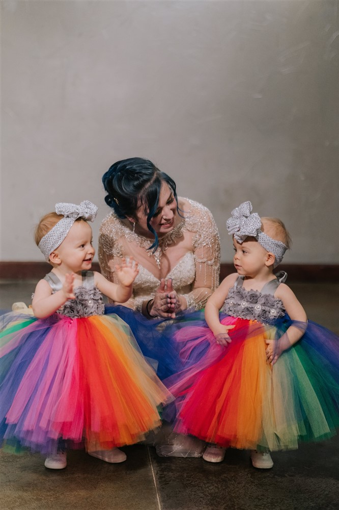 Cute Little Rainbow Flowergirls