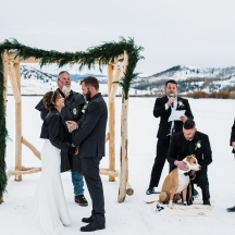 Winter Wedding Ceremony