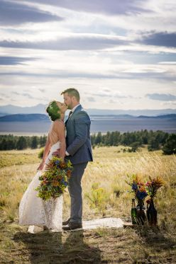 Tara and Eric's summer wedding at Tihsreed Lodge in Florissant, CO.